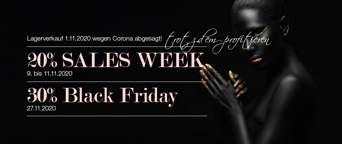 Lagerverkauf, Rabattwoche und Black Friday