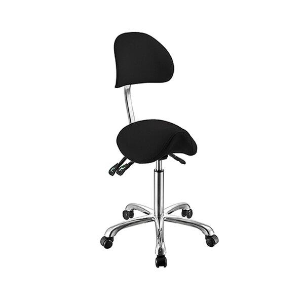Sattelsitz-Stuhl mit Lehne black