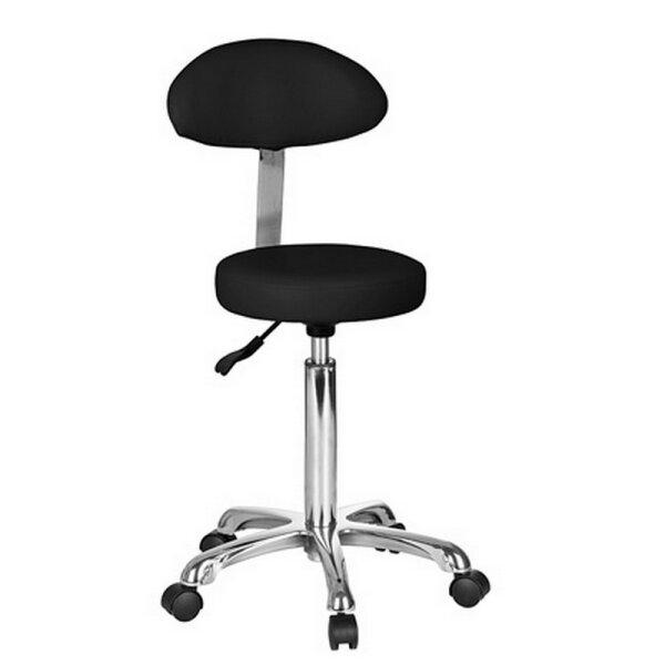 Stuhl-Rund mit Oval-Lehne, schwarz